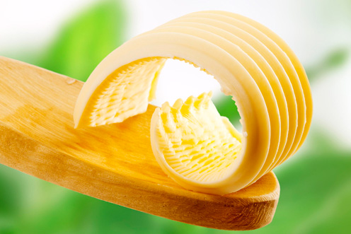 La mantequilla mejor que la margarina