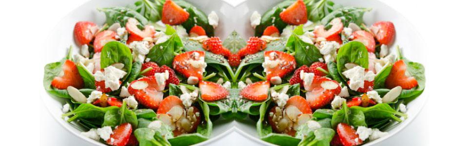Ensalada de espinaca y fresa
