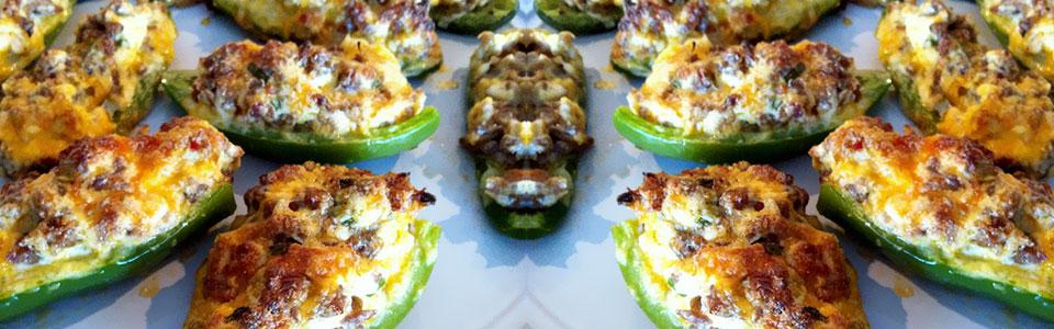 Jalapeños rellenos de queso y tocino