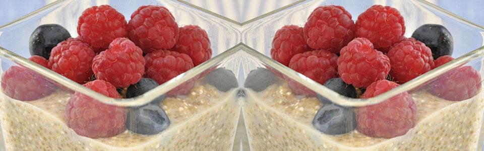 Pudin de quinoa y berries