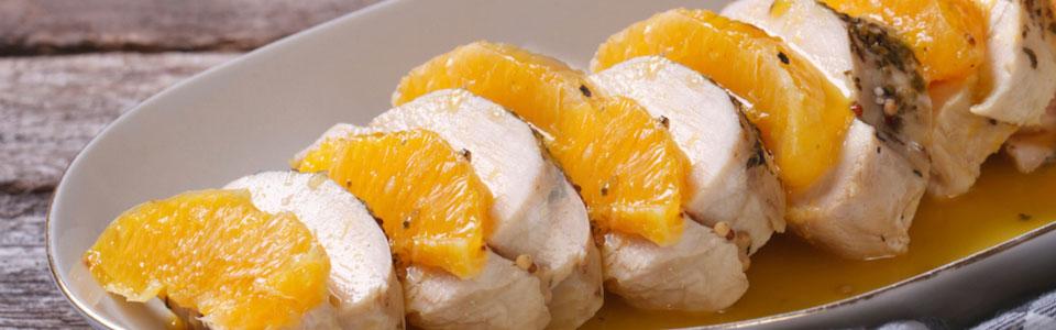Pechugas a la naranja