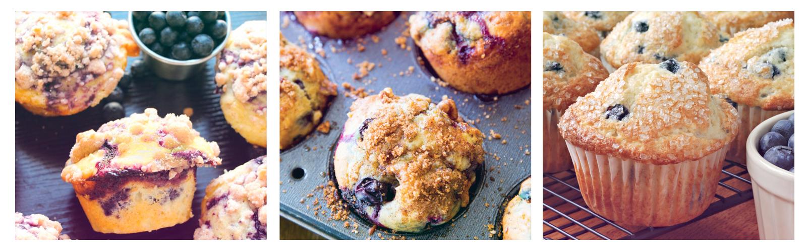 Muffins de blueberry con strussel