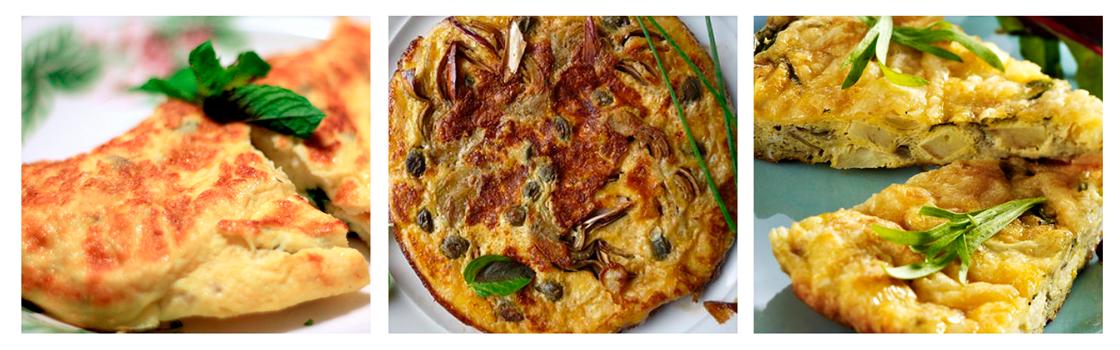 Omelette de alcachofas