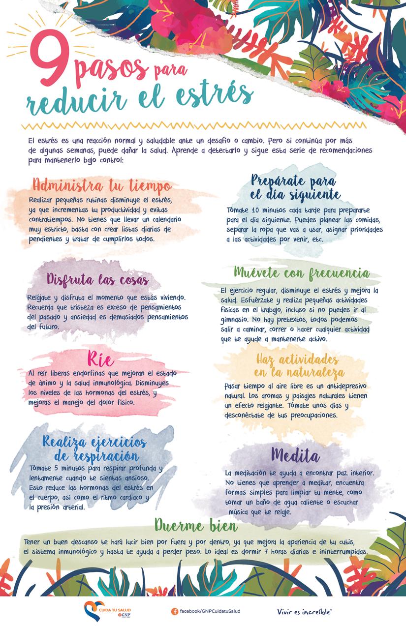 9 pasos para reducir el estrés