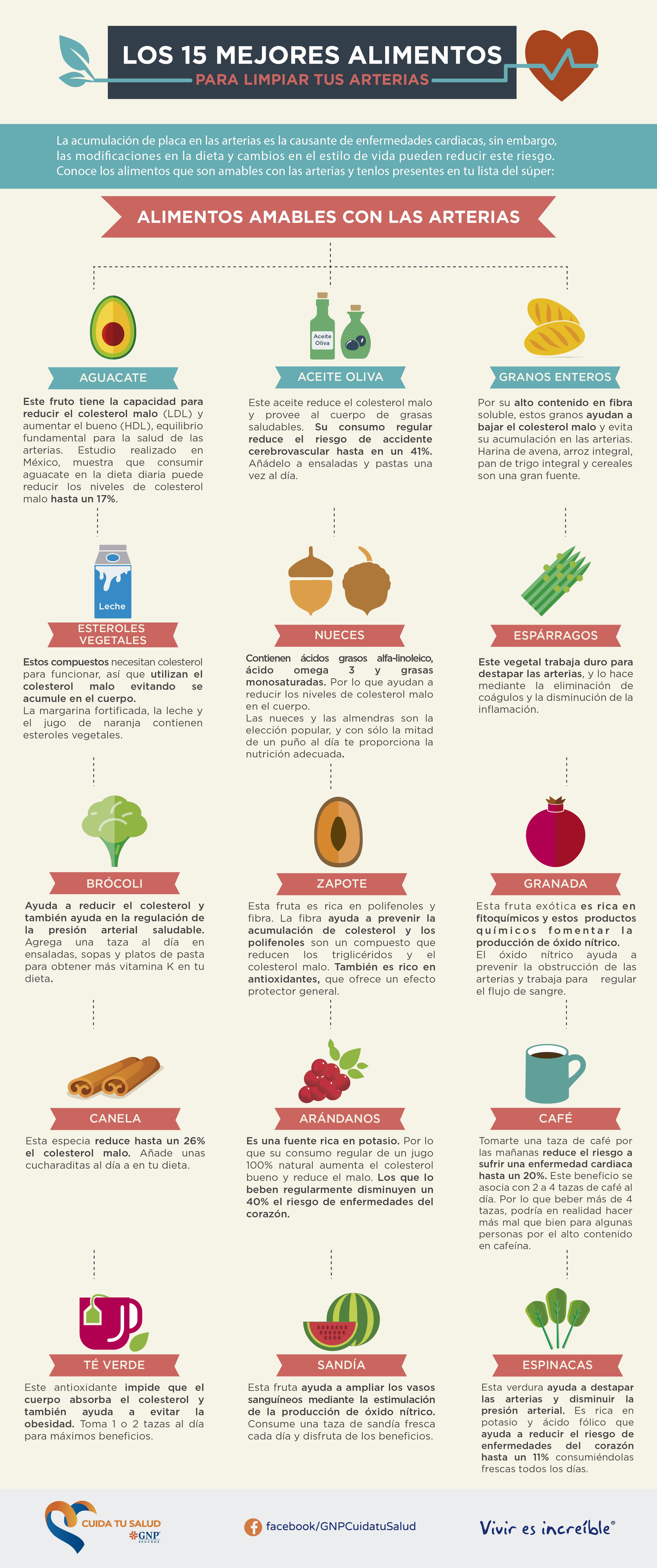 Alimentos para limpiar tus arterias