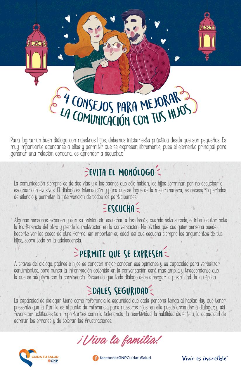 4 Consejos para mejorar la comunicación con tus hijos.