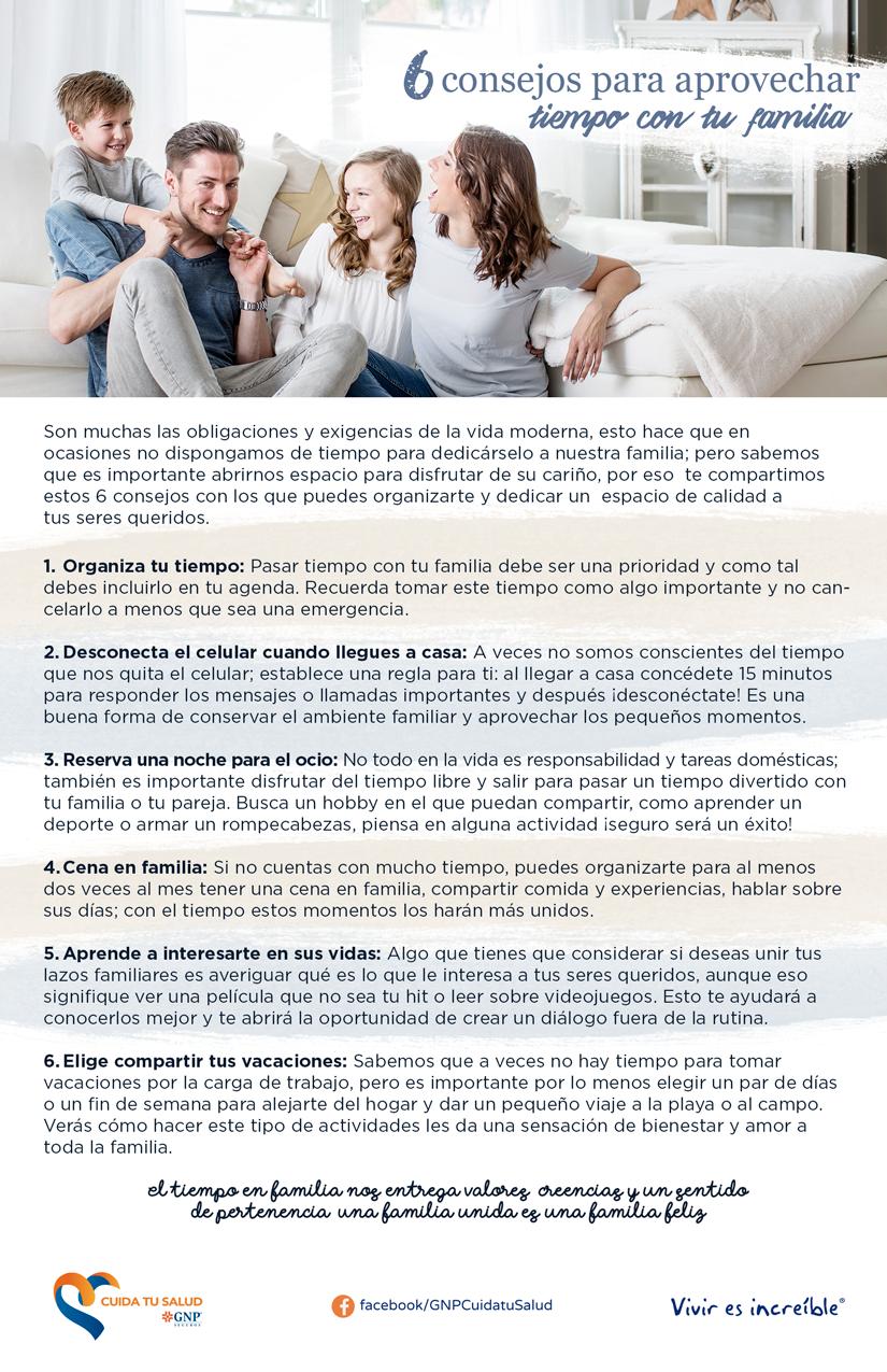 6 consejos para aprovechar tiempo en familia