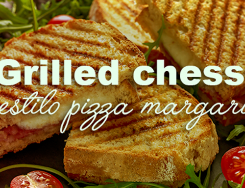 Grilled chesse estilo pizza margarita