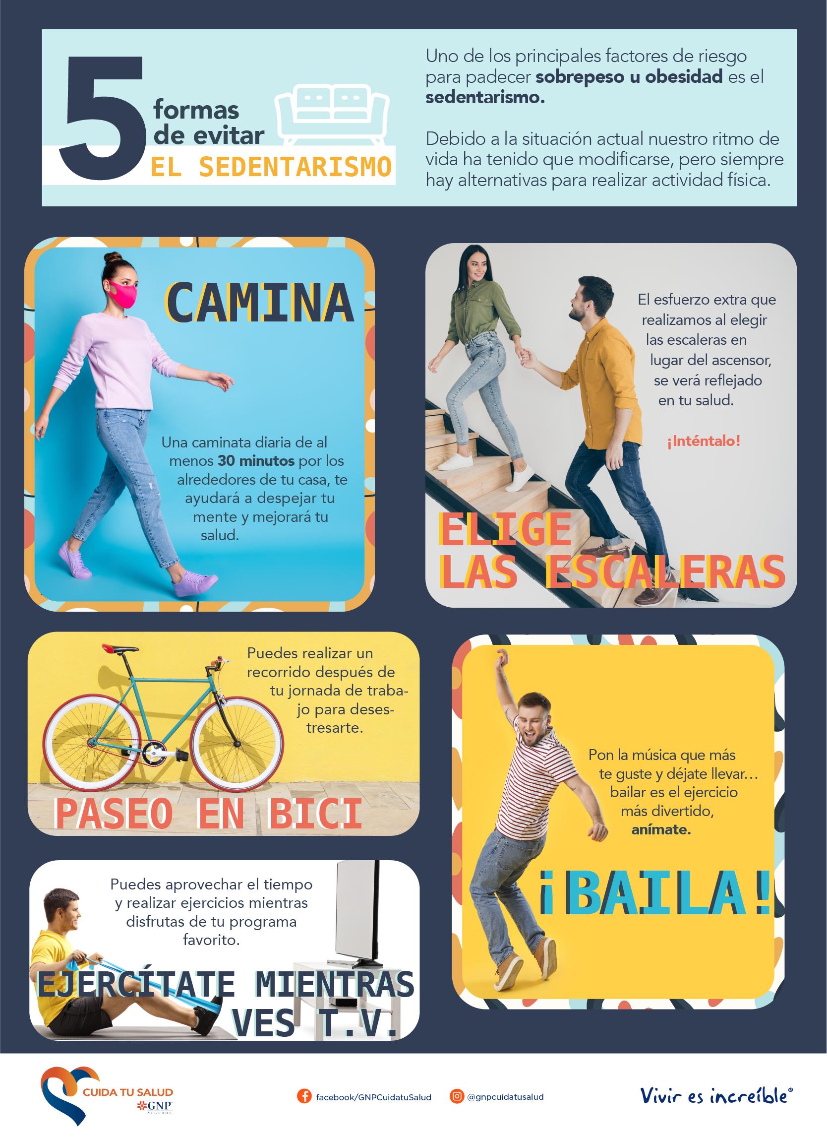 5 formas de evitar el sedentarismo