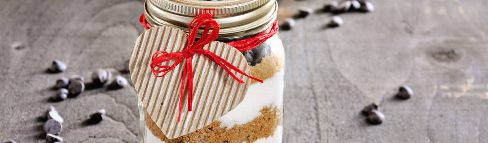 Cookie mix en mason jar
