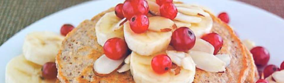 Hot cakes de plátano sin harina