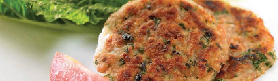 Tortitas de papa con atún y queso
