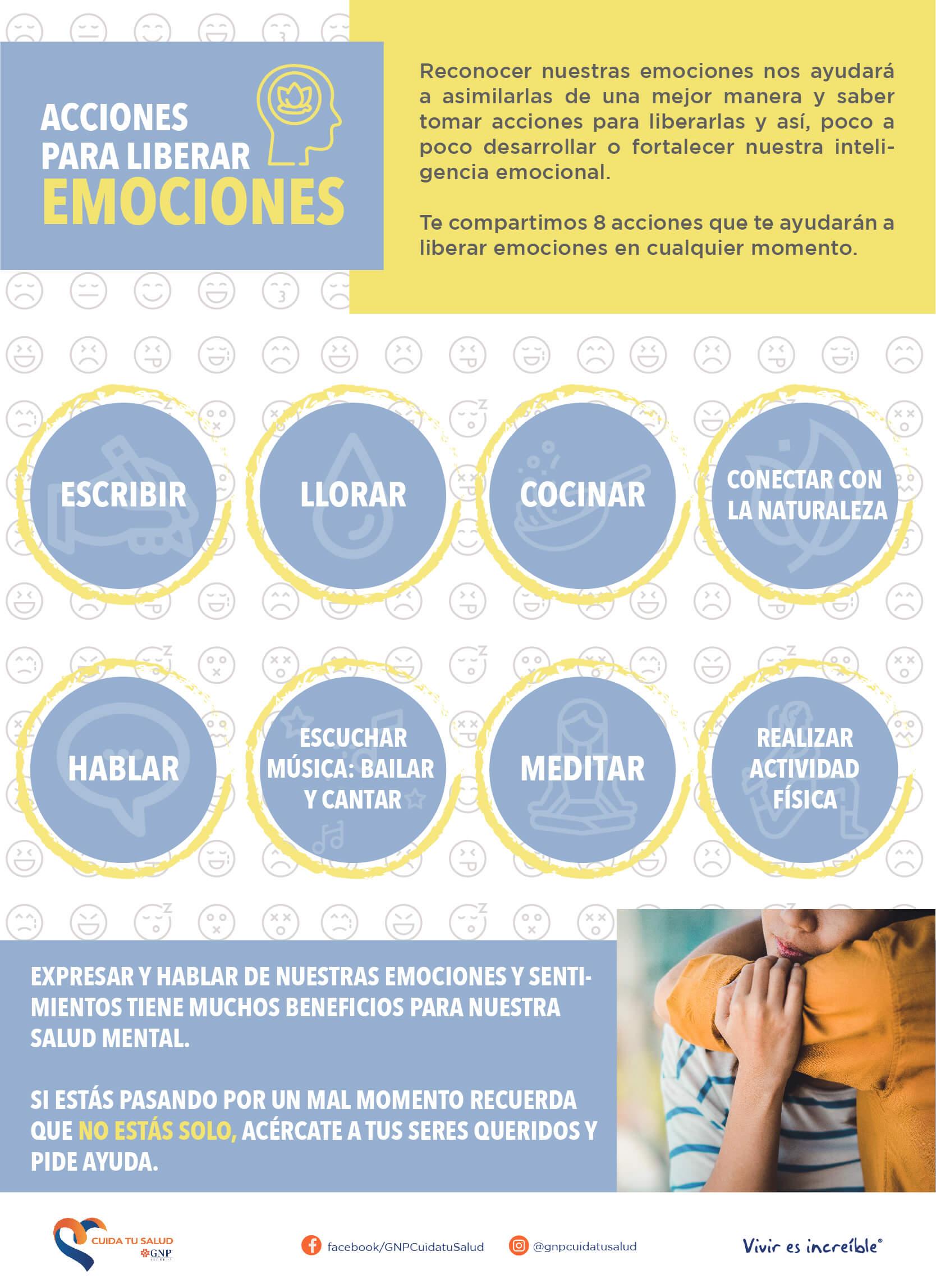 Acciones para liberar emociones