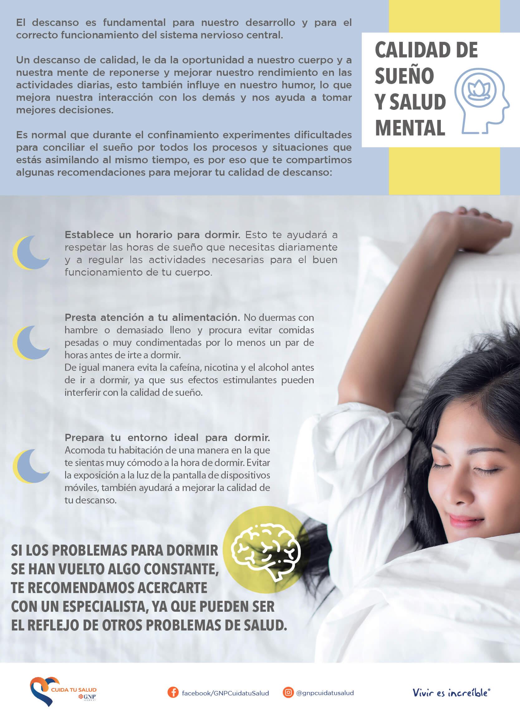 Calidad de sueño y salud mental