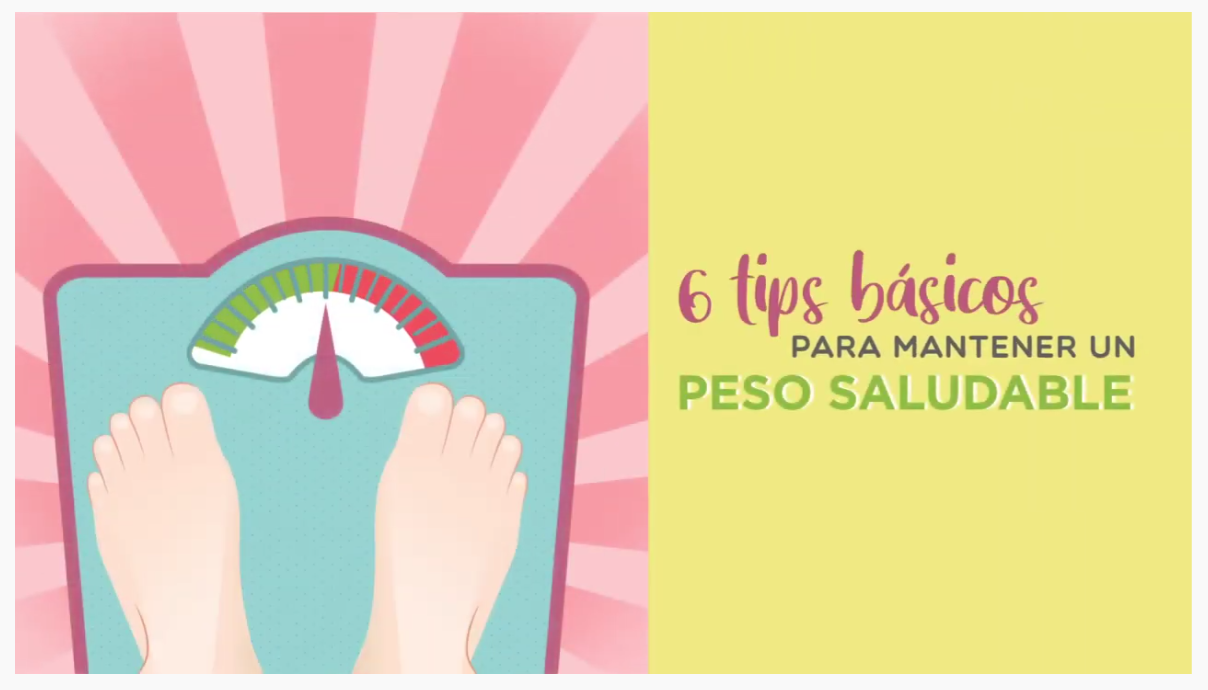 6 tips básicos para mantener un peso saludable