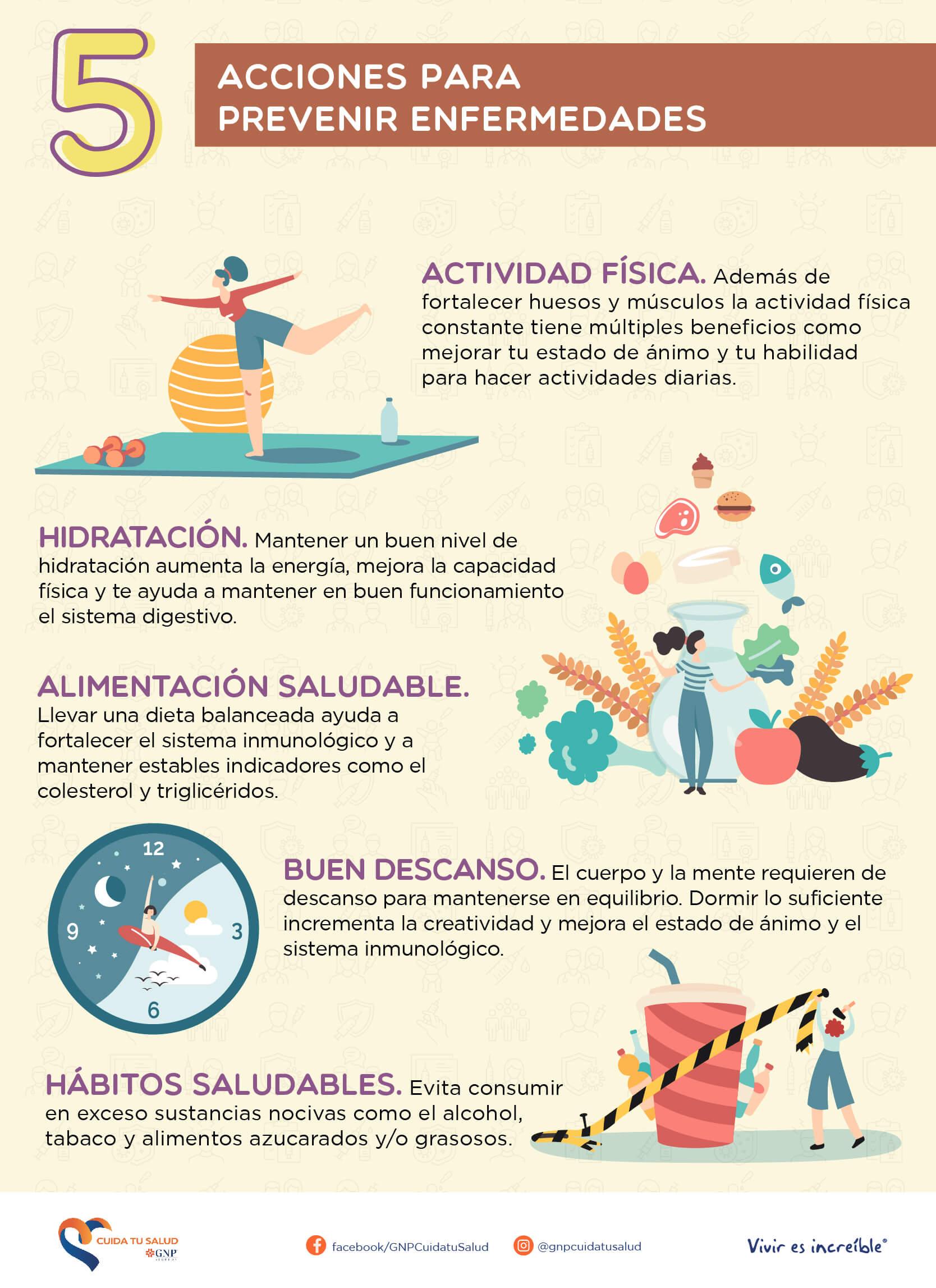 5 acciones para prevenir enfermedades