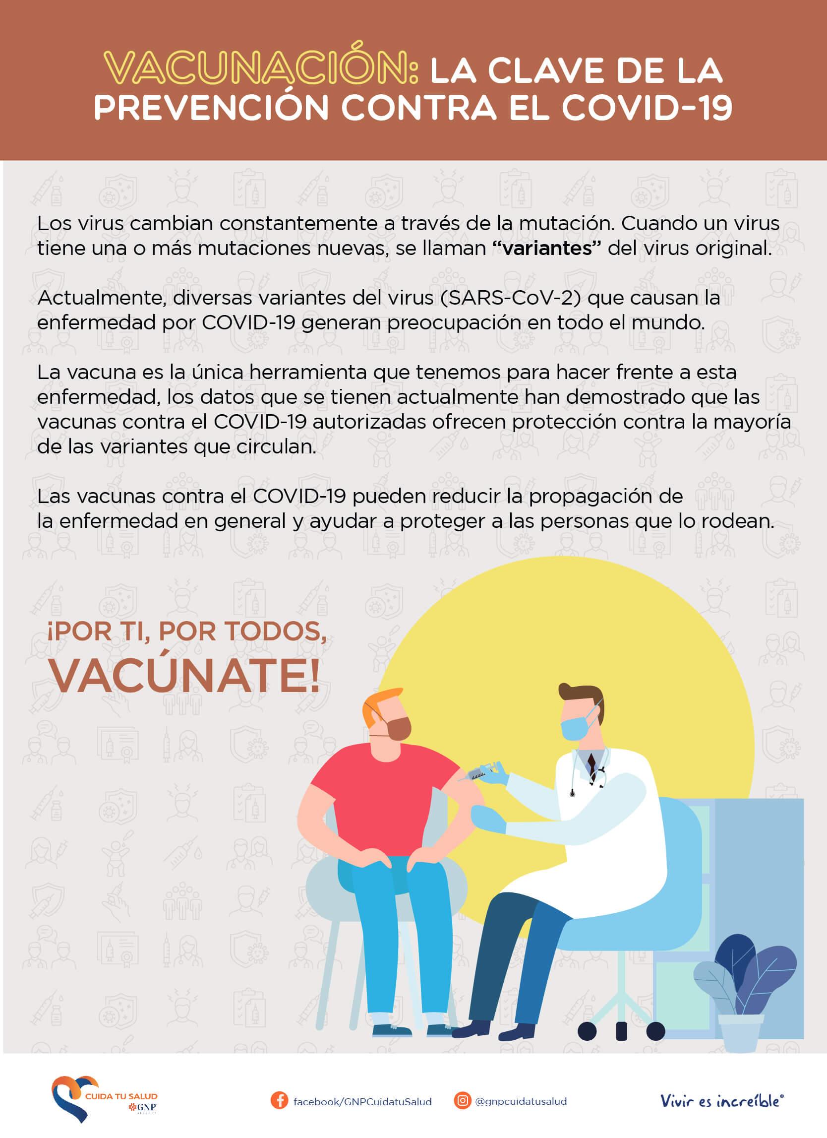 Vacunación: la clave de la prevención contra el COVID-19